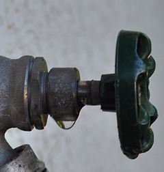 Drip from a valve photo